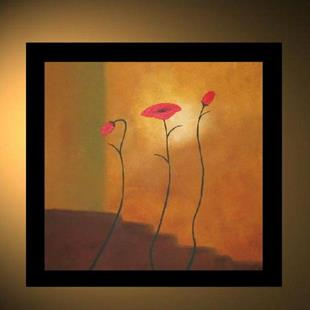 Art: Abstract Poppies - SOLD by Artist Charlene Murray Zatloukal