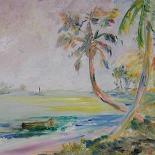 Art: Tropical Beach by Artist Delilah Smith