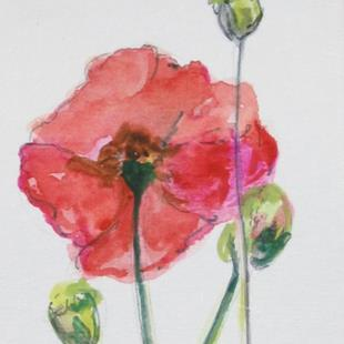 Art: Poppies by Artist Delilah Smith