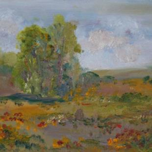 Art: The Hills are alive with color ,sold by Artist Delilah Smith