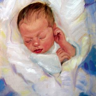 Art: Infant by Artist Debra Schott