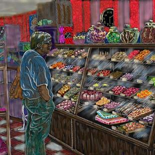 Art: Candystore by Artist Naquaiya