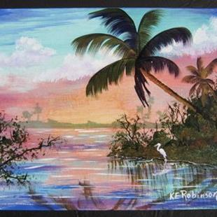 Art: FLORIDA WETLANDS LANDSCAPE - SOLD by Artist Ke Robinson