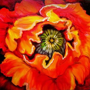Art: RED POPPY ABSTRACT by Artist Marcia Baldwin