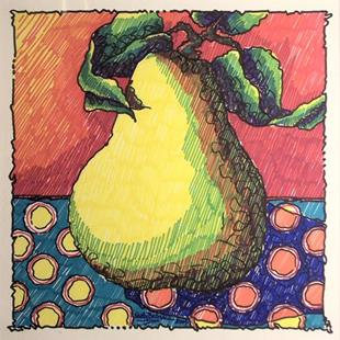 Art: Pear by Artist Shelly Bedsaul