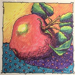 Art: Apple by Artist Shelly Bedsaul