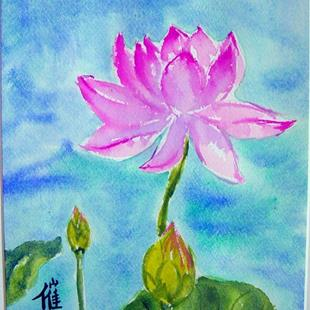 Art: Lotus II  by Artist Tracey Allyn Greene