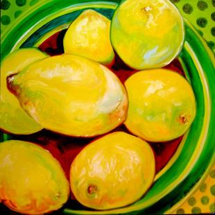 Art: LEMONS & DOTS by Artist Marcia Baldwin
