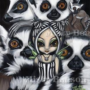 Art: She Talks to Lemurs by Artist Misty Monster (Benson)