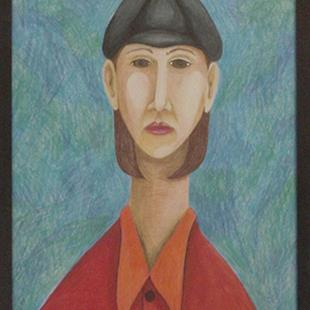 Art: Me and Modigliani by Artist Tina Marie Ferguson