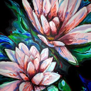 Art: Water Lilies by Artist Lisa Thornton Whittaker