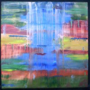 Art: Waterfall--SOLD by Artist Karina Keri-Matuszak