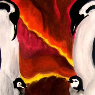 Art: Penguin Love by Artist Kimmary I MacLean
