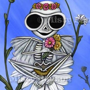 Art: Springtime Skelly by Artist Misty Monster (Benson)