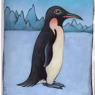Art: January Penguin by Artist Valerie Jeanne