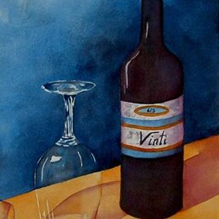 Art: Wine Anyone? by Artist Deborah Leger