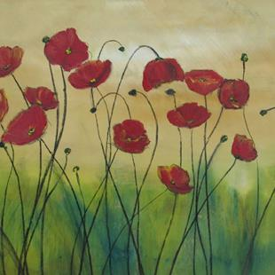 Art: Majestic Poppies by Artist Eridanus Sellen