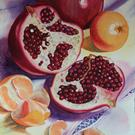 Art: Pomagranates and Tangerines SOLD by Artist Kathy Haney