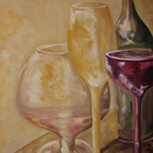 Art: Wine Delight by Artist Gail Meyer