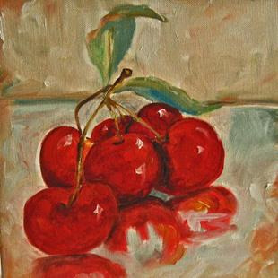 Art: Cherries-sold by Artist Delilah Smith