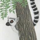 Art: Eager Lemur (SOLD) by Artist Jackie K. Hixon