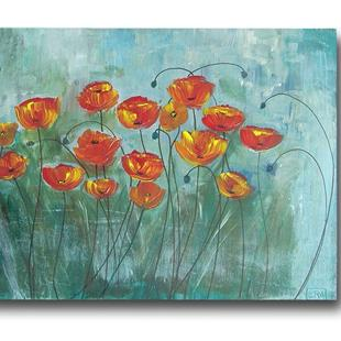 Art: Beautiful Day Poppies by Artist Eridanus Sellen