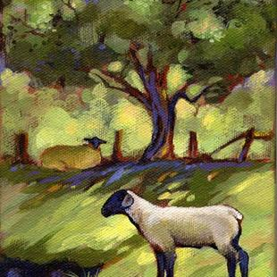 Art: Lamb & Ewe by Artist Patricia  Lee Christensen
