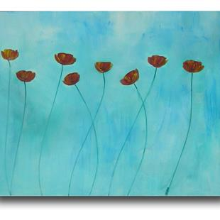 Art: Sky Blue with Poppies by Artist Eridanus Sellen