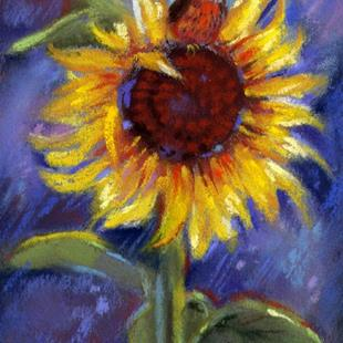 Art: Robin And Sunflower by Artist Patricia  Lee Christensen