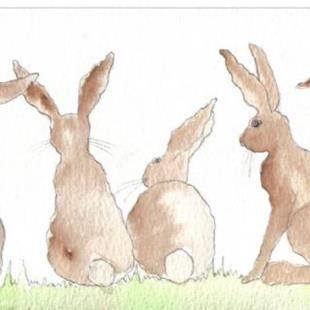 Art: HARES h483 by Artist Dawn Barker