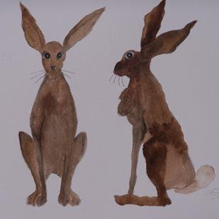 Art: HARES h484 by Artist Dawn Barker