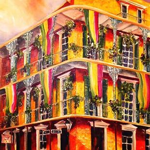 Art: All Decked Out for Mardi Gras - SOLD by Artist Diane Millsap