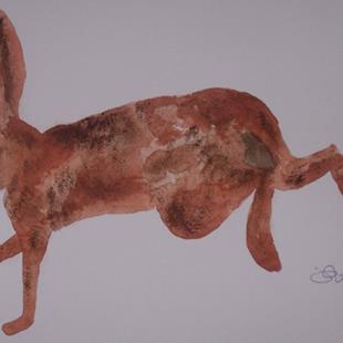 Art: HARE h487 by Artist Dawn Barker