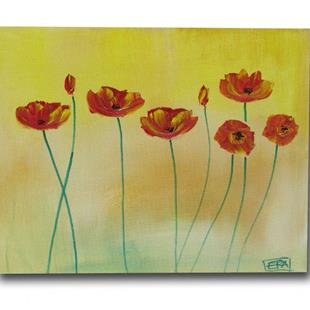 Art: Soft Tone Poppies by Artist Eridanus Sellen
