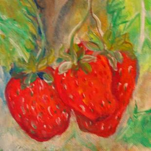 Art: Strawberries by Artist Delilah Smith
