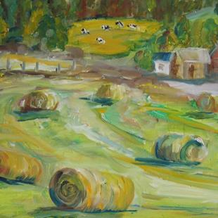 Art: Hay Bails by Artist Delilah Smith