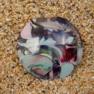 Art: Ambrosia Glass *WINDY DAY* Handmade Lampwork FOCAL Bead - SOLD by Artist Bonnie G Morrow