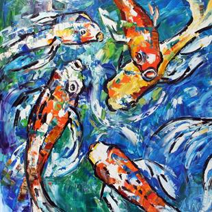 Art: Colors of Koi Five 2007 by Artist Laurie Justus Pace