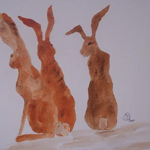 Art: HARES h490 by Artist Dawn Barker