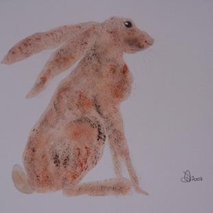 Art: HARE h491 by Artist Dawn Barker