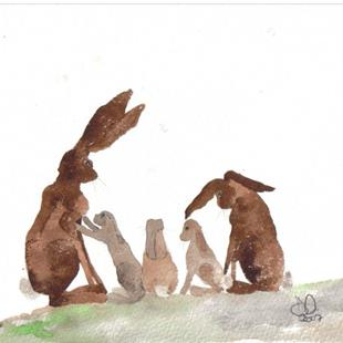 Art: HARE h493 by Artist Dawn Barker