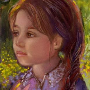 Art: Young Girl In Field of Buttercups by Artist Patricia  Lee Christensen