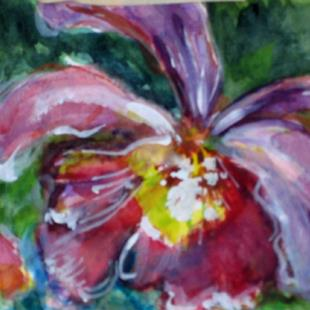Art: Orchid by Artist Delilah Smith