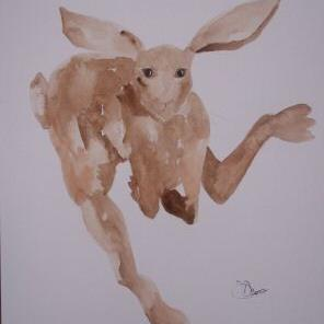 Art: HARE h495 by Artist Dawn Barker
