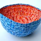 Art: Postage Stamp Bowl by Artist Amanda Hone