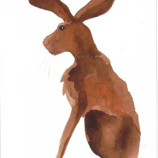 Art: HARE h499 by Artist Dawn Barker