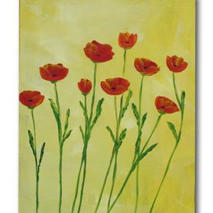 Art: Poppies Alight by Artist Eridanus Sellen