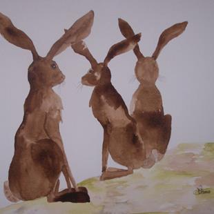 Art: HARES h503 by Artist Dawn Barker