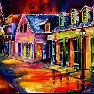 Art: Night Lights on Toulouse Street - SOLD by Artist Diane Millsap