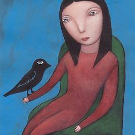 Art: Bird Day by Artist Valerie Jeanne